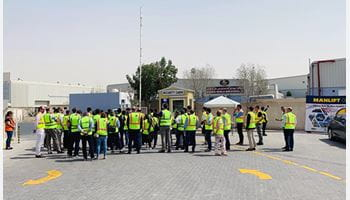 IAPA Visitors Tour Manlift Depot