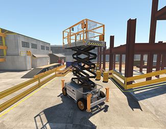 Scissor lift VR Training