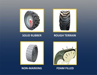 Types of Tyres on MEWPs