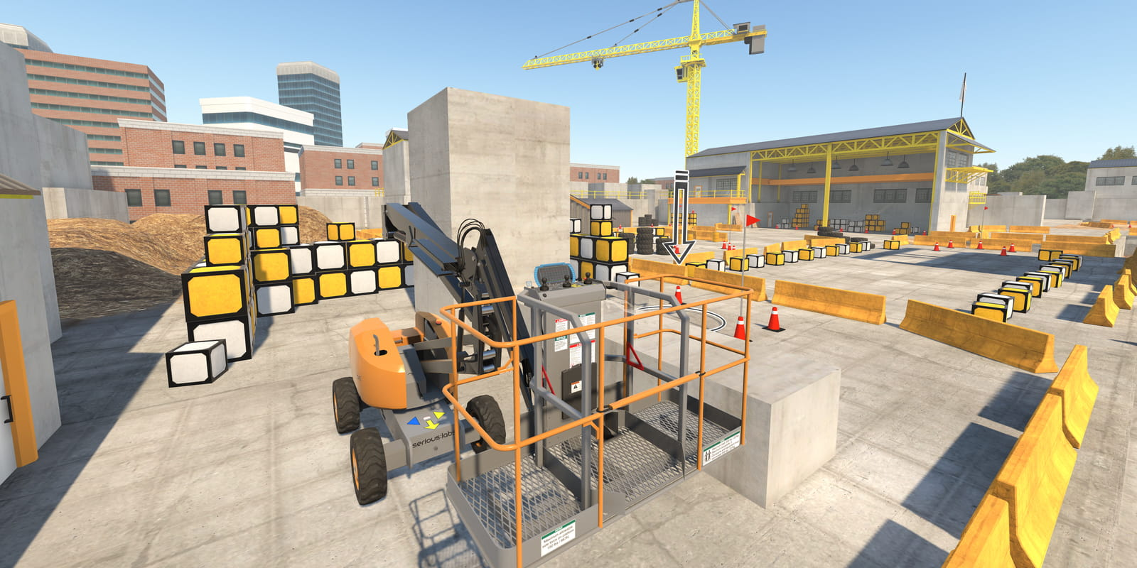 Virtual Reality device for aerial work platform training