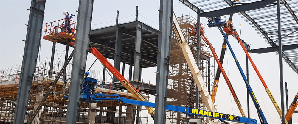 Manlift Rental Solutions for Construction Industry