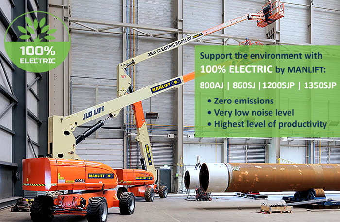 All Electric Boom Lifts by Manlift