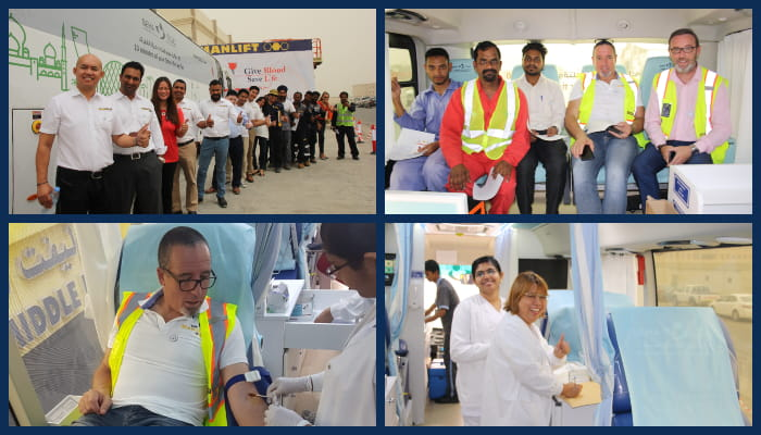 Manlift Blood Donation Campaign 2019
