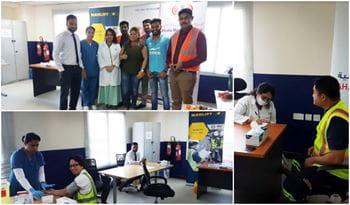Medical Camp at Manlift Middle East Dubai Yard