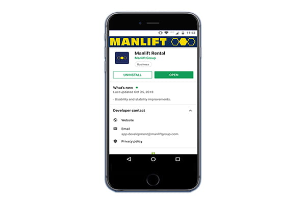 Manlift Rental App